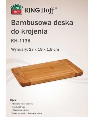 Virtuvinė lenta Bambukas 27x19cm KINGHOFF KH-1136